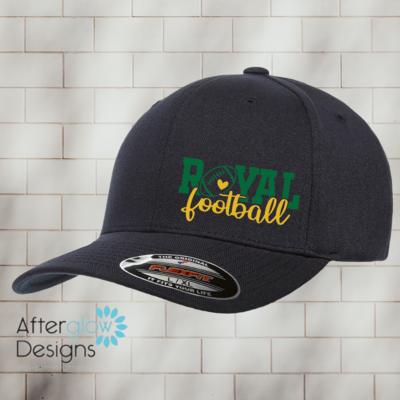 Royal Heart Design on Black Flexfit Hat