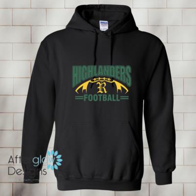 Highlander Design on Black Or Dark Green 50/50 Hoodie