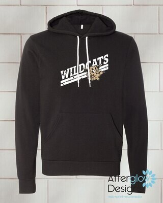 Wildcats Design on Bella + Canvas Super Soft Hoodie in Black