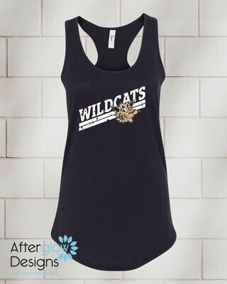 Wildcats Design on Black Racerback Tank
