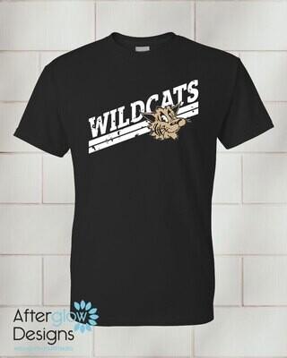 Wildcats Design on Adult Black 50/50 Tshirt