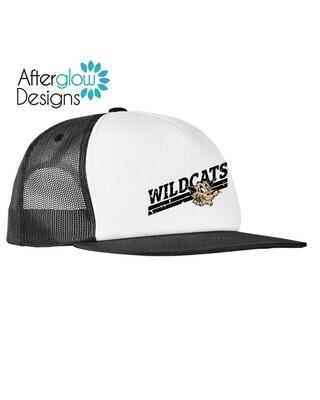 Wildcats Design on Black and White Foam Trucker Hat