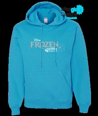 Frozen Design on California Blue 50/50 Pullover Hoodie