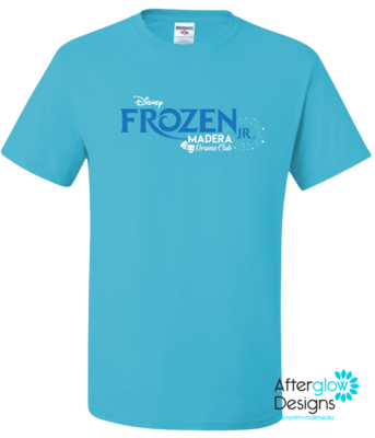 Frozen Design on California Blue 50/50 Tshirt