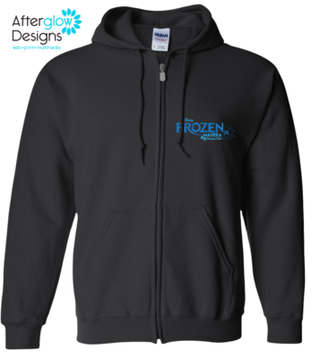 Frozen Design on Black Unisex 50/50 Full-Zip Hoodie