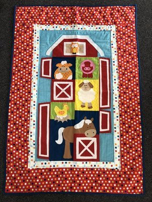 Farmyard Single Bed Topper - Completed Quilt