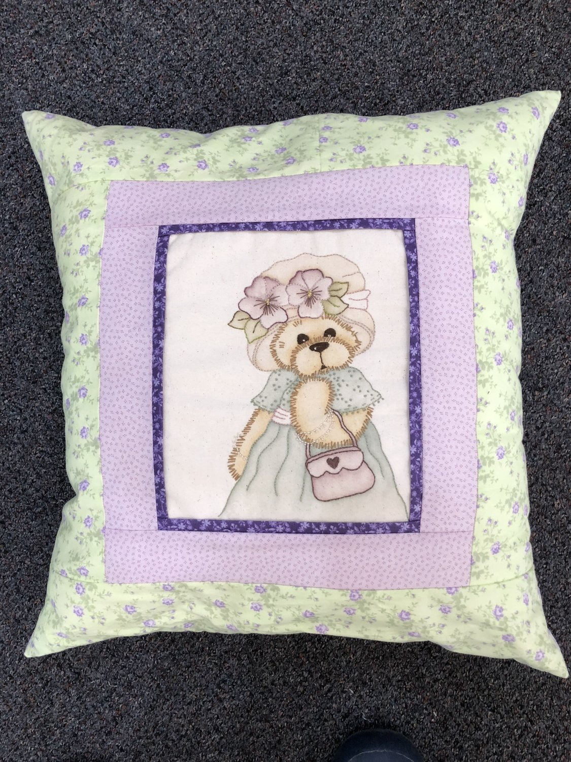 Betsy Bear - Finished Cushion Complete