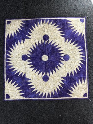 Purple Passions - Finished table topper