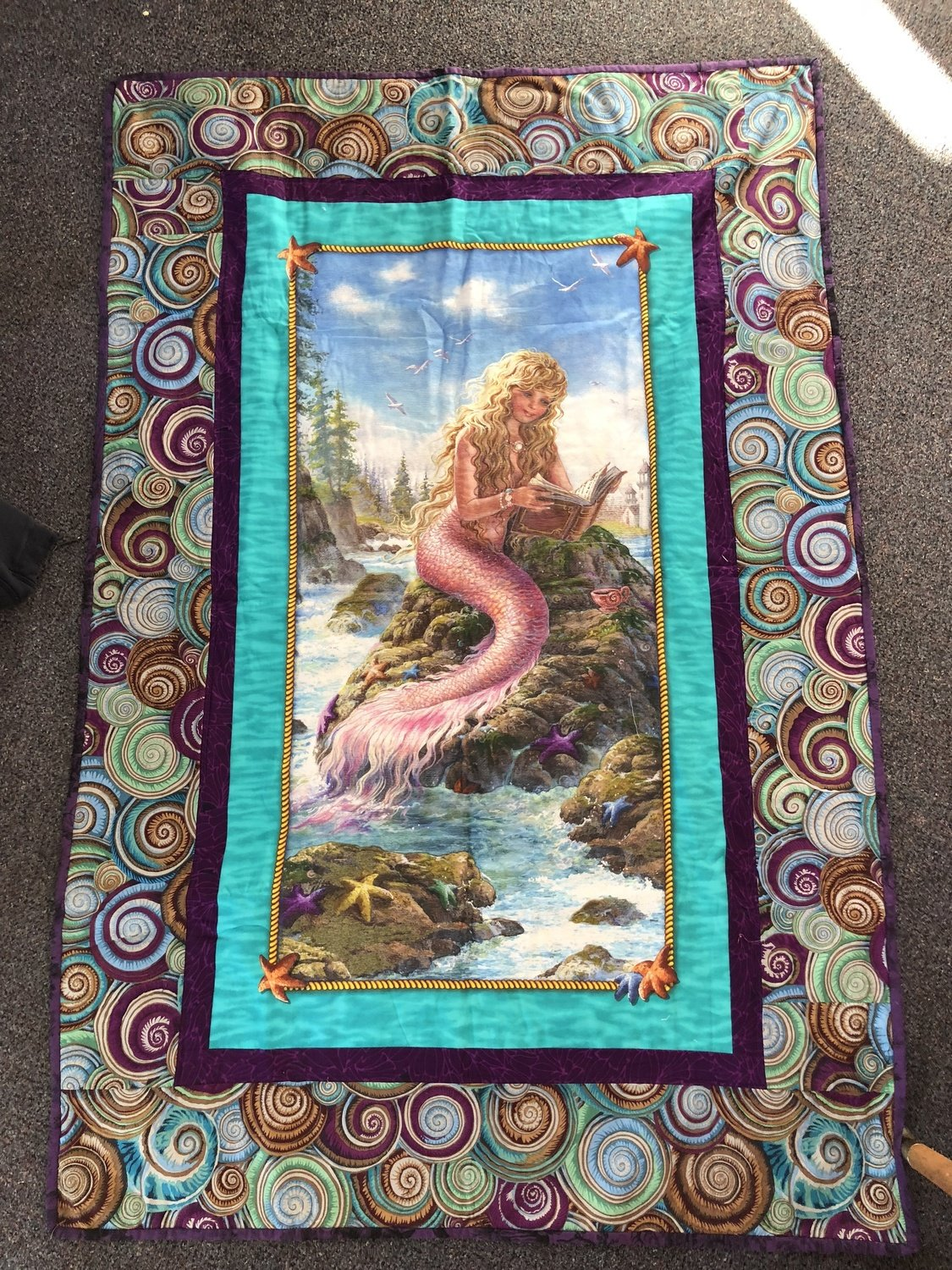 Mermaid - Finished Single Bed Topper