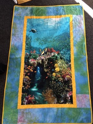 Underwater Wonders - Finished Single Bed Topper