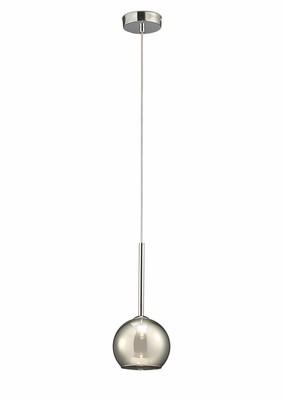 Regina Single Pendant 1 Light G9 Polished Chrome/Smoke Glass