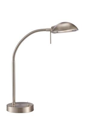 Bamberg Table Lamp 1 Light G9 Satin Nickel