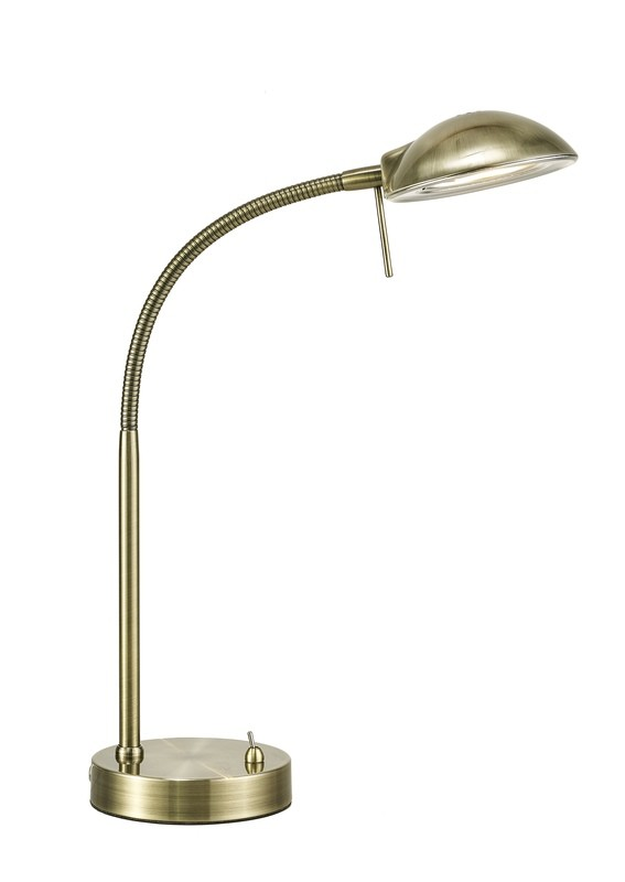 Bamberg Table Lamp 1 Light G9 Antique Brass
