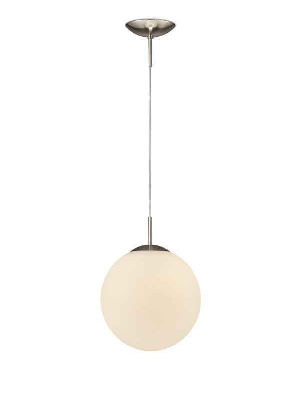 Miranda Medium Ball Pendant 1 Light E27 Frosted White Glass