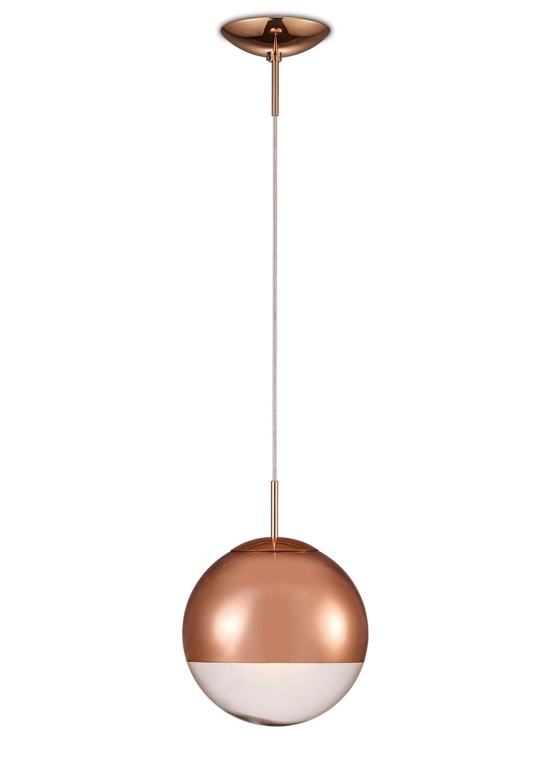 Miranda Small Ball Pendant 1 Light E27 Copper