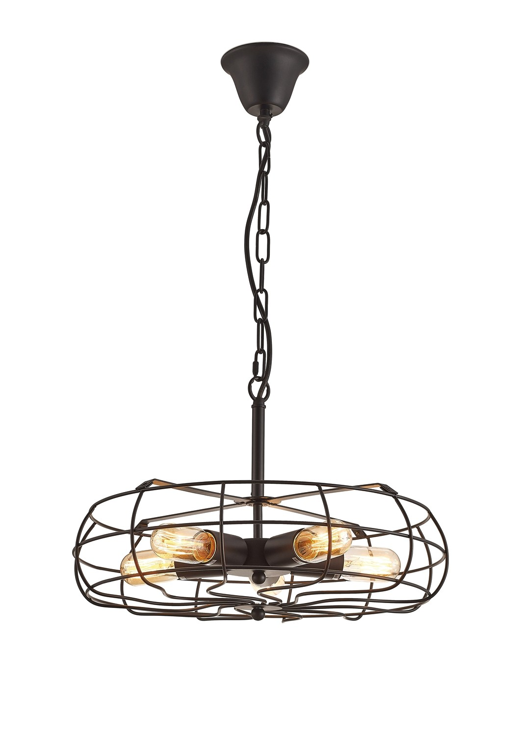 Claudia Pendant 5 Light E27 Black