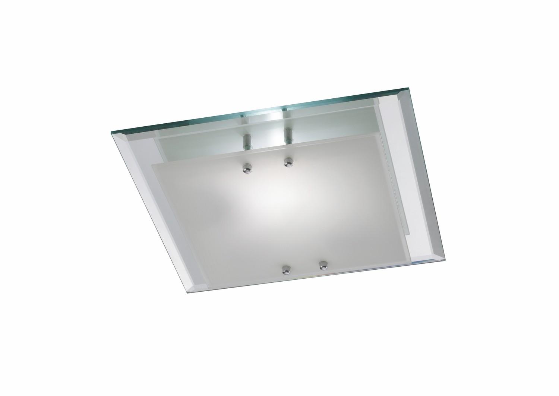 Mira Ceiling, 350mm Square, 2 Light E27 Polished Chrome