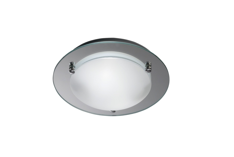 Brooklyn Ceiling 300mm Round 2 Light E27 Polished Chrome
