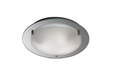 Brooklyn Ceiling, 400mm Round, 3 Light E27 Polished Chrome