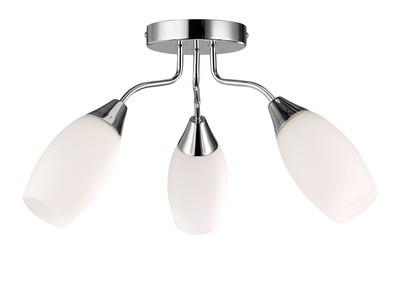Denia Ceiling 3 Light E14 Polished Chrome/Opal Glass - D0027