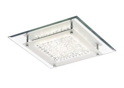 Gina Ceiling, 280mm Square, 12W 960lm LED 4000K Polished Chrome/Crystal