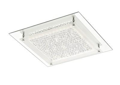 Gina Ceiling, 360mm Square, 18W 1440lm LED 4000K Polished Chrome/Crystal