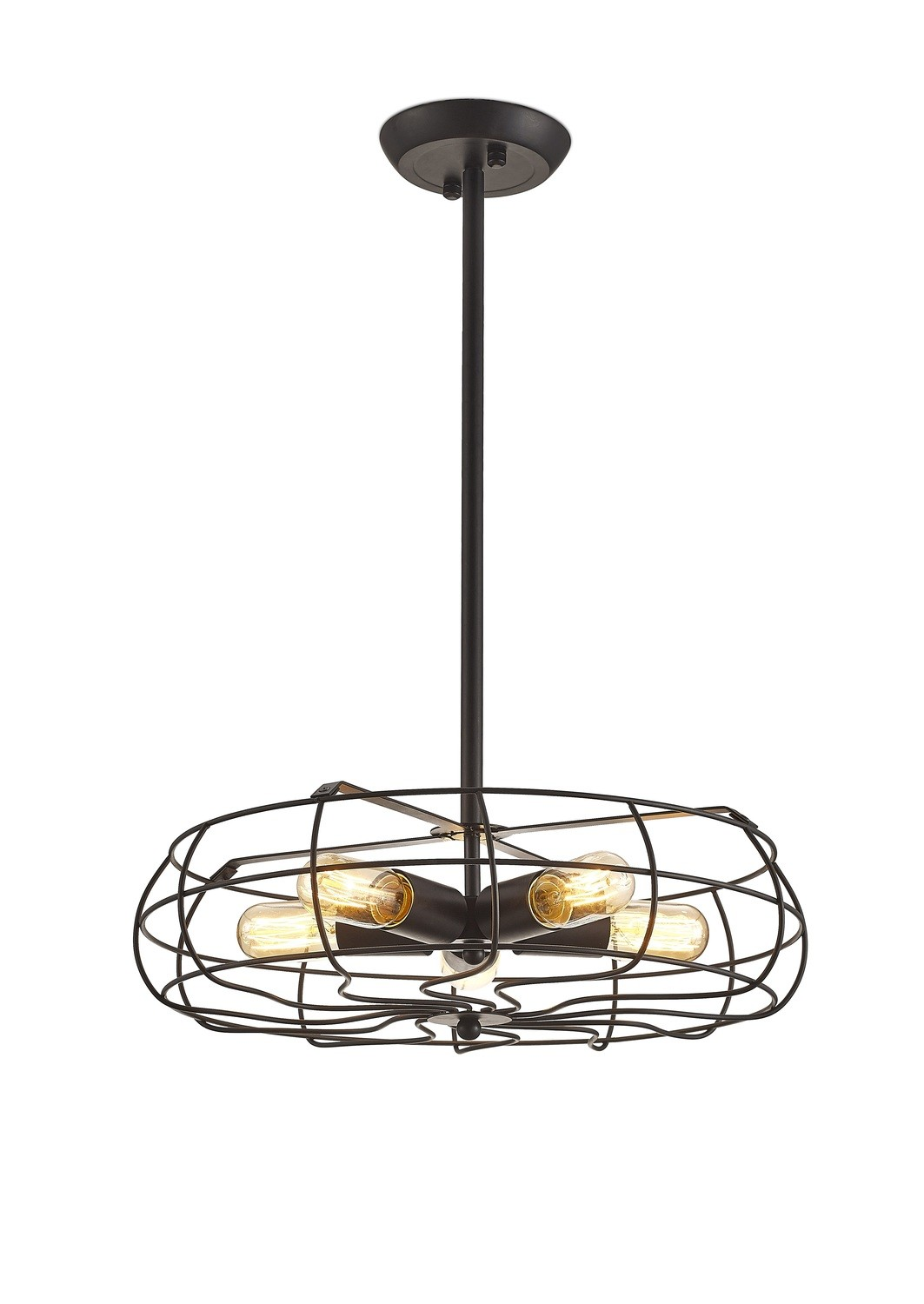 Claudia Semi Ceiling 5 Light E27 Black