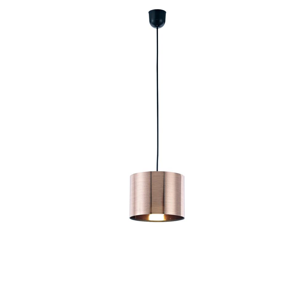 Dako Black Pendant 1 Light E27 With 200 x 150mm Cylinder Shade, c/w Ceiling Bracket
