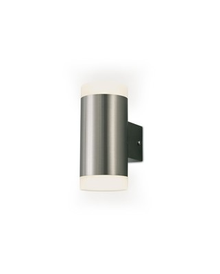 Alpin Up & Downward Lighting Cylinder Wall Lamp, 2x4W LED IP44, Ext/Interior, 4000K