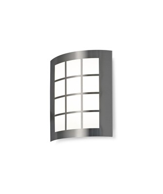Allegra Flush Wall Lamp 216mm x 178mm With Square Grid Cover, 14W LED IP44, Ext/Interior, 4000K