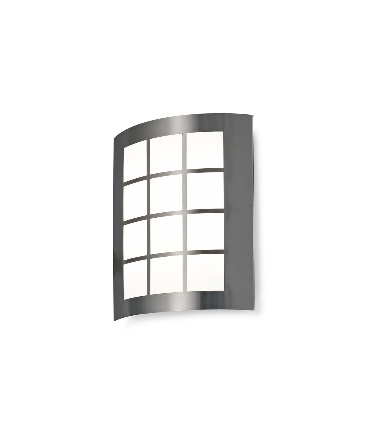 Allegra Flush Wall Lamp with Square Grid Cover, 14W LED IP44, 4000K