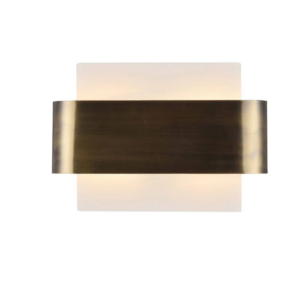 Damo 2 Light G9 Flush Fitting, White Base With Antique Brass Centre Band