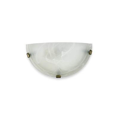 Chester 1 Light E27 Flush Wall Lamp, Polished Brass With Frosted Alabaster Glass