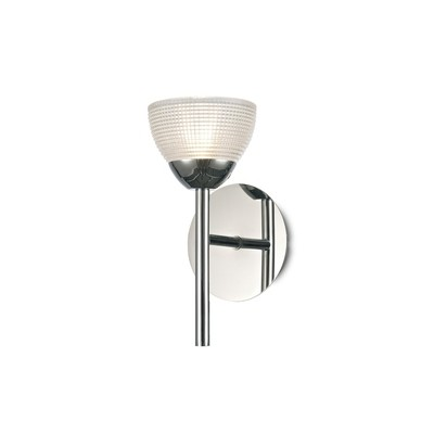 Avalon 1 Light G9 Wall Lamp, Polished Chrome With Clear Prismatic Glass