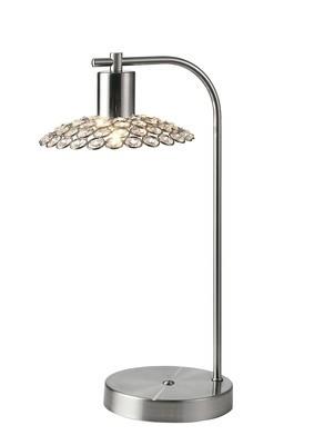 Ellen 1 Light Table Lamp Satin Nickel/Crystal