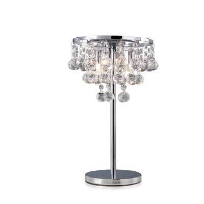 Atla Table Lamp 3 Light Polished Chrome/Crystal