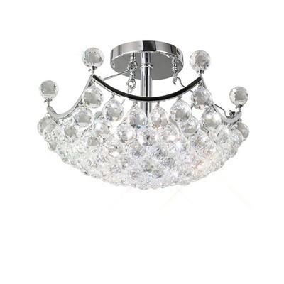 Cesto Ceiling 4 Light Polished Chrome/Crystal