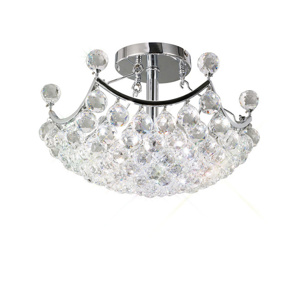 Diyas IL30035 Cesto Ceiling 4 Light Polished Chrome/Crystal