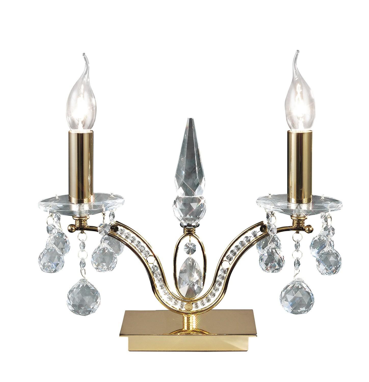 Tara Table Lamp 2 Light French Gold/Crystal