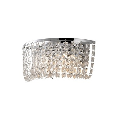 Cosmos Wall Lamp Switched 2 Light Polished Chrome/Crystal