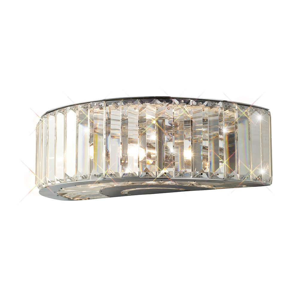Torre Wall Lamp 3 Light Polished Chrome/Crystal