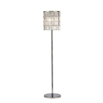 Torre Crystal Curtain Floor Lamp 5 Light Polished Chrome