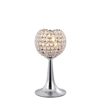 Ava Table Lamp 2 Light Polished Chrome/Crystal