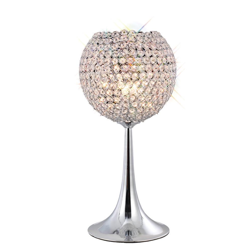 Ava Table Lamp 3 Light G9 Polished Chrome/Crystal