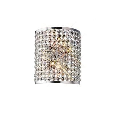 Ava Rectangle Wall Lamp 2 Light Polished Chrome/Crystal