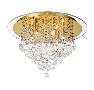Atla Ceiling 6 Light French Gold/Crystal