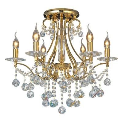 Diyas IL30216/BI Bianco Ceiling 6 Light French Gold/Crystal