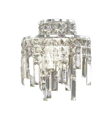 Maddison Wall Lamp 2 Light Polished Chrome/Crystal