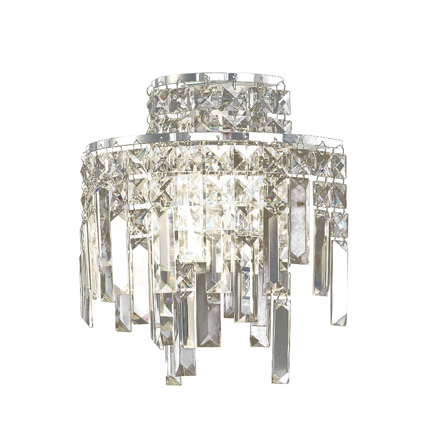 Maddison Wall Lamp 2 Light Polished Chrome/Crystal