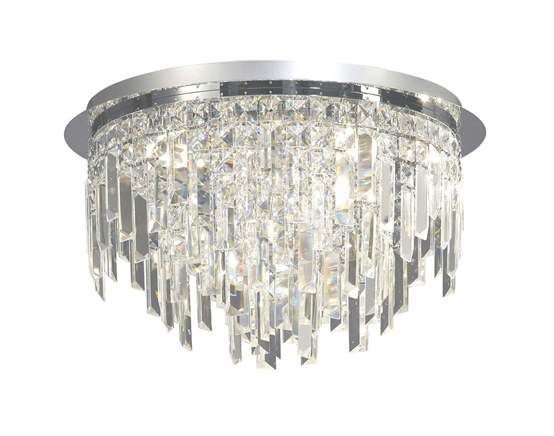 Maddison Ceiling Round 6 Light Crystal